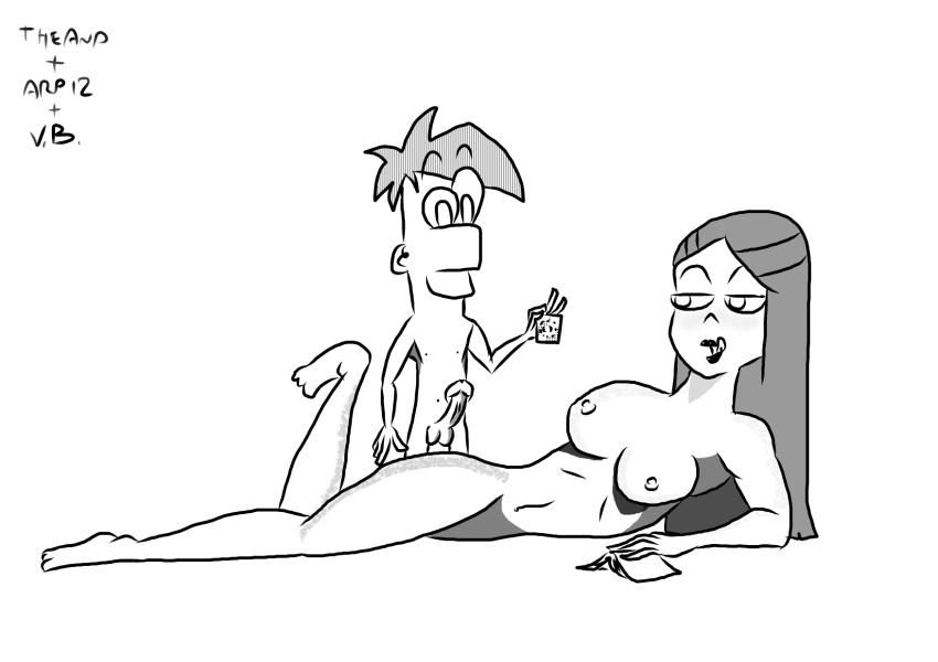 vanessa naked and ferb phineas Pac man blinky pinky inky clyde