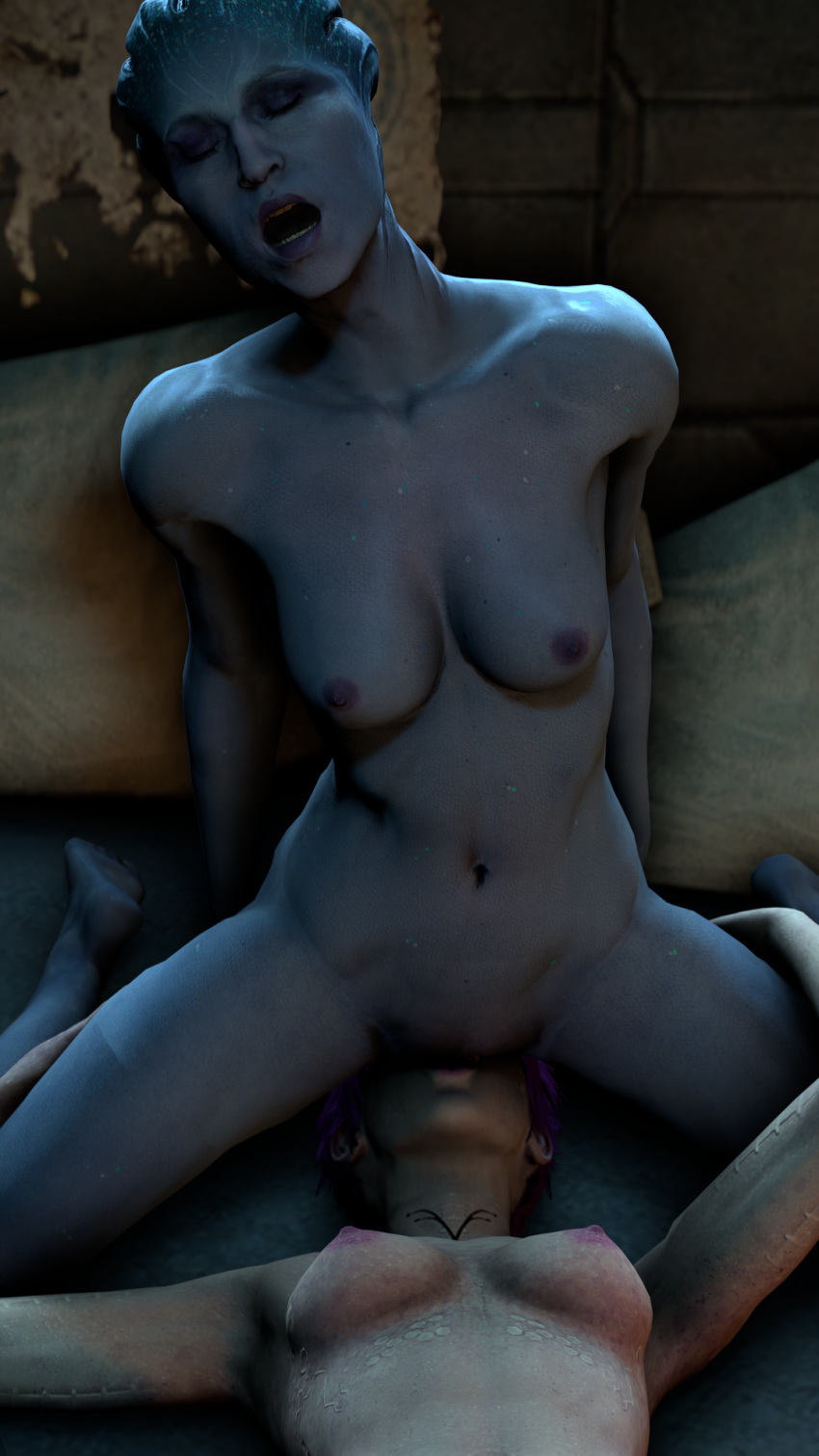 nude effect mass suvi andromeda Male to female animation transformation